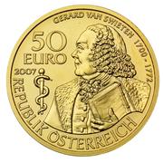 50 Euro (Gerard van Swieten) -  reverse