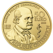 50 Euro (Ignaz Philipp Semmelweis) – reverse