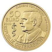 50 Euro (Baron Clemens von Pirquet) -  reverse