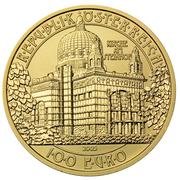 100 Euro (St.Leopold's Church at Steinhof) -  reverse