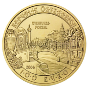 100 Euro (Vienna's River Gate) -  reverse