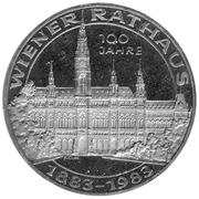 500 Schilling (Vienna City Hall) -  obverse