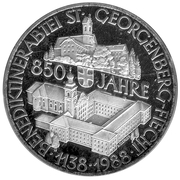 500 Schilling (St. Georgenberg Abbey) -  reverse