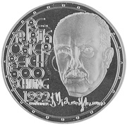500 Schilling (Richard Strauss) -  obverse