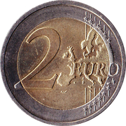 2 Euro (10 Years of Euro Cash) -  reverse
