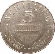 5 Schilling (Silver) -  reverse