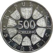 500 Schilling (World Cup Horse Jumping Championship) -  reverse