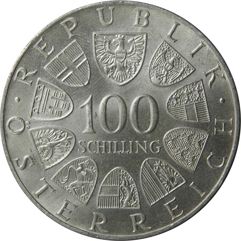 100 Schilling Johann Strauss Austria Numista