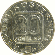 20 Schilling (St. Stephan's Cathedral, Vienna) -  obverse