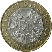 50 Schilling (European Monetary Union) -  reverse