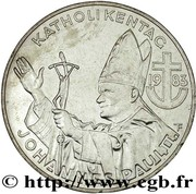 500 Schilling (Catholic Day - Pope's Visit) -  obverse