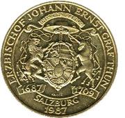 20 Schilling (Accession of Arcbishop Johann E. Graf Thun) -  reverse