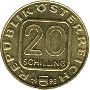 20 Schilling (Accession of Arcbishop Johann E. Graf Thun) -  obverse