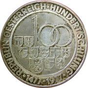100 Schilling (Münzstätte Hall) -  reverse