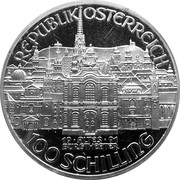 100 Schilling (Mozart - Burgtheater) -  reverse