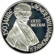 100 Schilling (Nicolai - Vienna Philharmonic) -  reverse