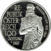100 Schilling (Emperor Maximilian) -  obverse