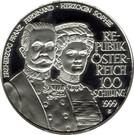 100 Schilling (Habsburg Tragedies: Franz Ferdinand + Sophie) – obverse