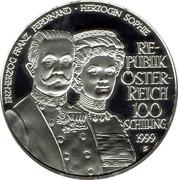 100 Schilling (Habsburg Tragedies: Franz Ferdinand + Sophie) -  obverse