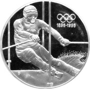 200 Schilling (Olympic Movement; Winter Olympics) -  reverse