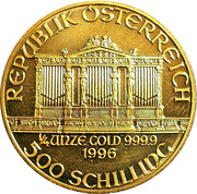 500 Schilling (Vienna Philharmonic; Gold Bullion Coinage) -  obverse