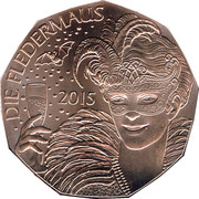 5 Euro (New Year: Operetta Bat and the Ball) -  obverse