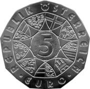 5 Euro (New Year: Operetta Bat and the Ball) -  reverse