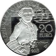 20 Euro (Mozart: Wunderkind) -  obverse