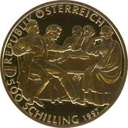 500 Schilling (Franz Schubert) -  obverse