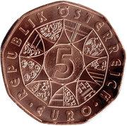 5 Euro (150 years danube waltz) -  reverse