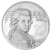 20 Euro (Mozart: Genius) -  obverse