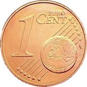 1 Euro Cent -  reverse