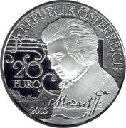 20 Euro (Mozart: Legend) – obverse