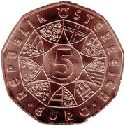 5 Euro (Easter Lamb) -  reverse