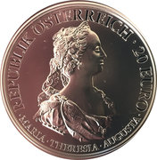 20 Euro (the Birth of Empress Maria Theresa - Courage and Determination) -  obverse