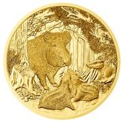 100 Euro (Wild Boar) – reverse