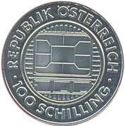 100 Schilling (Communications) -  obverse