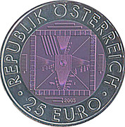 25 Euro (50 Years of Television) -  obverse