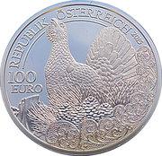 100 Euro (Capercaillie) -  obverse