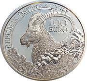 100 Euro (The Alpine Ibex) -  obverse