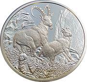100 Euro (The Alpine Ibex) -  reverse