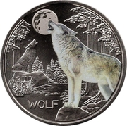 3 Euro (The Wolf) -  obverse