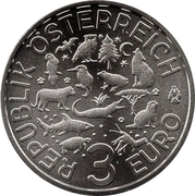 3 Euro (The Wolf) -  reverse