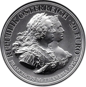 20 Euro the Birth of Empress Maria Theresa (Justitia) -  obverse