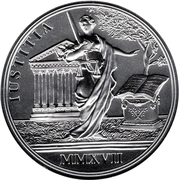 20 Euro the Birth of Empress Maria Theresa (Justitia) -  reverse