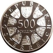 500 Schilling (Birth of Salzburg's Archbishop von Raitenau) -  obverse