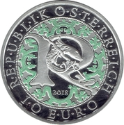 10 Euro (Heavenly Messengers: Raphael - The Healing Angel; Colored) -  obverse