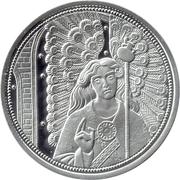 10 Euro (Heavenly Messengers: Raphael - The Healing Angel; Colored) -  reverse