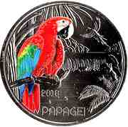 3 Euro (The Parrot) -  reverse