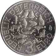 3 Euro (The Parrot) -  obverse